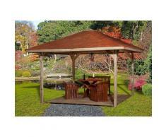 weka Pavillon »Paradies 3«, (Set), BxT: 433x433 cm, inkl. Dachschindeln und Pfostenanker