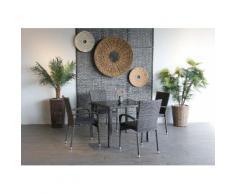 Ploß Gartenstuhl »BRADFORD« 4er Set, Stahl, klappbar, graphit