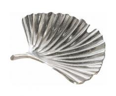 GILDE Dekoschale »Schale Ginkgo Alu, antik silberfarben« (1 Stück), aus Metall, Blattform, Wohnzimmer