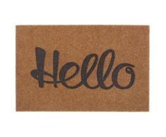 Fußmatte »Hello cosy«, my home, rechteckig, Höhe 10 mm, Schmutzfangmatte, mit Spruch, In- und Outdoor geeignet, Kokos-Optik