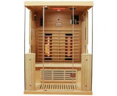 Dewello Infrarotkabine »Kingston«, BxTxH: 135 x 105 x 190 cm, 50 mm, für bis zu 2 Personen