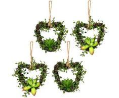 Künstliche Zimmerpflanze »Mühlenbeckiaherzen« Sukkulente, Creativ green, Höhe 12 cm, 4er Set