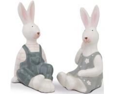 Osterhase »Steffi & Klaus« (Set, 2 Stück), aus Dolomit, Höhe ca. 14 cm
