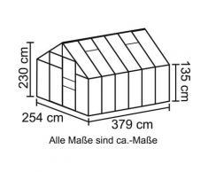 Vitavia Gewächshaus »Merkur 9900«, BxTxH: 254 x 379 x 230 cm, 4 mm Wandstärke