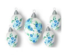 Krebs Glas Lauscha Osterei »Blüten« (Set, 5 Stück)
