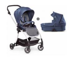 Hauck Kombi-Kinderwagen »Eagle 4S Duoset, denim/grey«, mit Babywanne, Fußsack und Moskitonetz Kinderwagen