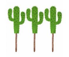 Filz-Stecker Kaktus, grün, 11,5 cm