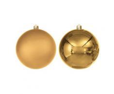 Weihnachtskugeln aus Kunststoff, gold, 10 cm Ø, 4 Stück