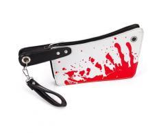 Blutbeschmierte Tasche Beil