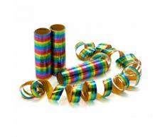 Luftschlangen Metallic, 3 Stück
