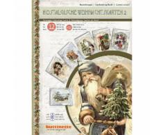 3D-Bastelmappe Nostalgische Weihnachtskarten, für 12 Karten