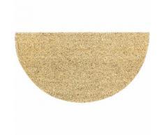 Kokos-Fußmatte Halbrund, 40 x 75 cm