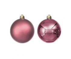 Weihnachtskugeln aus Kunststoff, rosa, 10 cm Ø