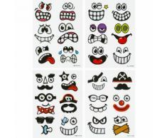 Ostereier-Sticker Funny faces, 48 Stück