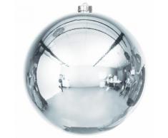 Weihnachtskugel aus Kunststoff, stahlblau, 20 cm Ø