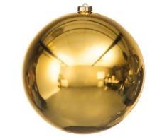 Weihnachtskugel aus Kunststoff, gold, 20 cm Ø