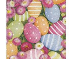 Papierservietten Ostereier und Blumen, 33 x 33 cm, 20 Stück