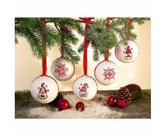 buttinette Stickpackung Weihnachtskugeln Wichtel, 5er-Set