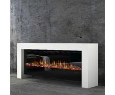 muenkel design bridge [moderner Optiflame Design Elektrokamin]: weiß (warm) - 2100 mm