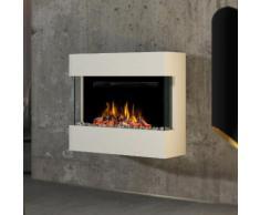 Noble Flame LIMA Wandkamin [moderner Design Elektrokamin]: mit schwarzen Arcrylsteinen