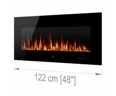Noble Flame VEGAS Schwarz: 1220 [Elektro Wandkamin]
