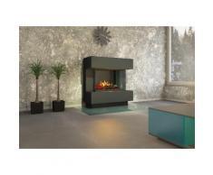 muenkel design London 900 [Elektrokamin Opti-myst]: weiß (warm) - Mit Heizung - Kieswanne mit weißen Steinen