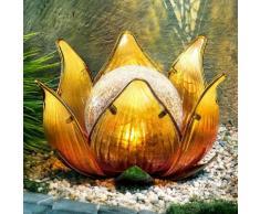 """Solar-Dekoleuchte """"Lotusblüte"""", orange"""