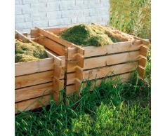 Holz Komposter, kesseldruckimprägniert, ca. 100x100 cm, 480 Liter