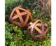 Dekokugel Gartenjuwel , Edelrost, ca. 30 cm