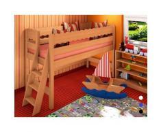 Spielbett Midibett Molly L2, Dahlhaus, Buche natur, weiß, schwarz, blau, nussbaum