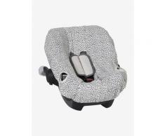 Schonbezug für Babyschale, elastisch weiß gesprenkelt von vertbaudet