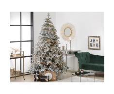 Weihnachtsbaum 210 cm Weiß Schneebedeckt mit Kunstschnee und Ständer Weihnachtszeit/ Weihnachten/ Wohnzimmer Modern
