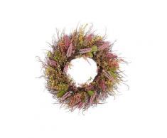 Türkranz mit Kunstblumen Rosa / Grün ø 50 cm Frühling Ostern Heidekraut Tischdekoration Wandkranz Natur