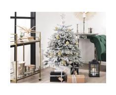 Weihnachtsbaum 120 cm Weiß Schneebedeckt mit Kunstschnee und Ständer Weihnachtszeit/ Weihnachten/ Wohnzimmer Modern