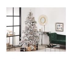 Weihnachtsbaum 210 cm Weiß Kunststoff/Metall Schnee Effekt inkl. Ständer Weihnachtszeit Weihnachten Wohnzimmer Modern