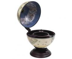 vidaXL Globus-Minibar Flaschenregal Eukalyptusholz Grün