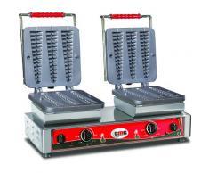 GMG - Waffeleisen Bruxelles - 6x (23 x 3 x 2,4cm) - Wechselbare Backplatte Sehr einfach Montage - 50° bis 300°C - Leichte Reinigung