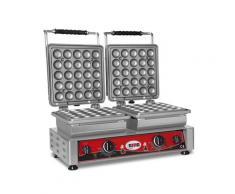 GMG - Waffeleisen Lokmia-D - 2x (Ø25 x 3,5cm x 1,7cm/3,4cm) - Wechselbare Backplatte Sehr einfach Montage - 50° bis 300°C - Leichte Reinigung