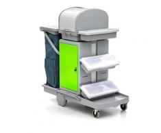 Wisch-Star Reinigungswagen Green für Klettmop-Systeme