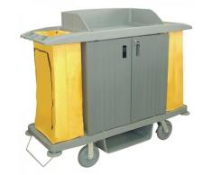 Jantex Reinigungswagen mit 2 Säcken und Türen