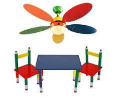 Kinder Möbel Set Decken Ventilator farbenfroh Spiel Zimmer Leuchte Tisch Gruppe Massiv Holz Bleistift Kindermöbel