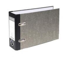 20x Exacompta Ordner Standard wolkenmarmoriert, mit 2 Ringen, 70mm Rücken, für Format DIN A5 quer