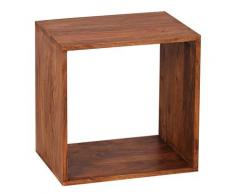 Wohnling Massivholz Sheesham Cube Regal 43,5x43,5 Beistelltisch MUMBAI Couchtisch Neu