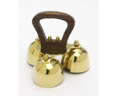 Glocke, Altarglocke mit Holzgriff, 3-Klang, Messing
