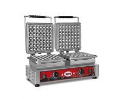 GMG - Waffeleisen Lokmia-S - 2x (Ø49 x 3cm x 1,4cm/2,8cm) - Wechselbare Backplatte Sehr einfach Montage - 50° bis 300°C - Leichte Reinigung