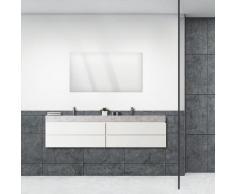 ARTland Wandspiegel Größe: 115x60 cm, rahmenlos mit Aufhänger, frei wählbar ob hoch- oder querformat, für Badezimmer, Flur oder Schlafzimmer