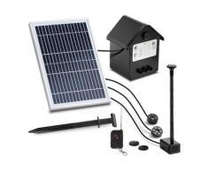 Uniprodo Solar-Springbrunnen - 250 l/h - LED - mit Fernbedienung