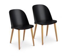Fromm & Starck Stuhl - 2er Set - bis 150 kg - Sitzfläche 43,5 x 43 cm - schwarz - Lehne transparent