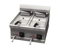 Elektro-Fritteuse, 10+10 Liter, 600 x 600 x 455 mm, 400 V