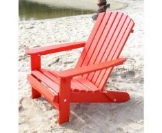 DanDiBo Strandstuhl Holz Rot Gartenstuhl klappbar Adirondack Deckchair
